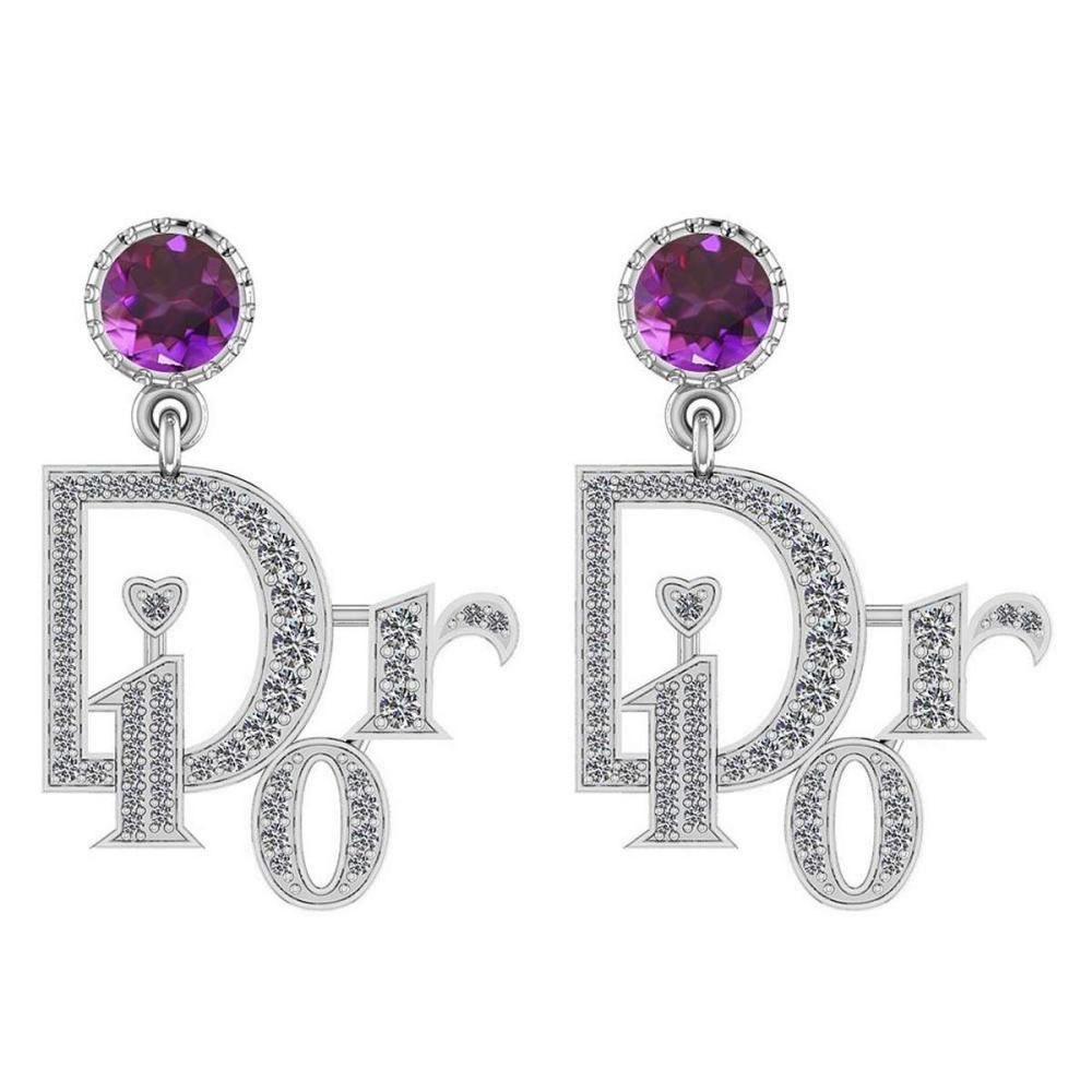 Certified 7.02 Ctw Pink Tourmaline And Diamond VS/SI1 14K Rose Gold Dangling Earrings #IRS25400