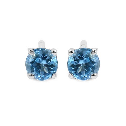 Topaz Blue:Round/4.00mm 2/0.64 ctw #29255v3