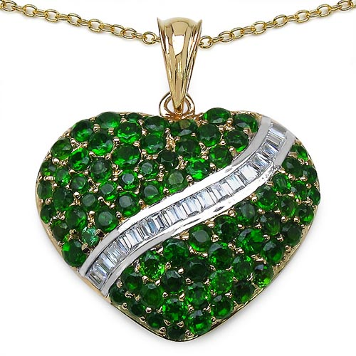 Chrome Diopside:Round/ 2.50mm + Chrome Diopside:Round/ 2.30mm + Chrome Diopside:Round/ 2.10mm + Chrome Diopside:Round/1.80mm 16/0.80 ctw + Topaz White:Baguette/ 2.00x1.50mm 16/0.64 ctw #29393v3