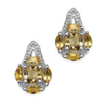 Citrine:Cushion/4.00mm + Citrine:Marquise/4x2mm 8/0.80 ctw #29205v3