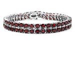 Garnet:Oval/4x3mm 90/18.00 ctw + Diamond White:Round/1.00mm 22/0.13 ctw #28970v3