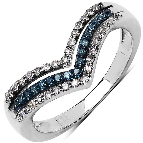 Diamond Blue:Round/0.95-1.00mm 32/0.18 ctw #33736v3