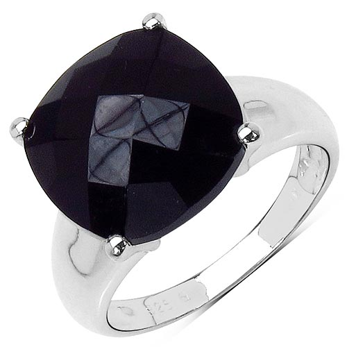 Black Onyx:Cushion/12.50mm 1/6.05 ctw #33720v3
