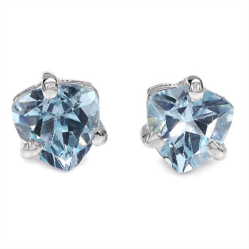 Topaz Blue:Trillion/5.00mm 2/1.00 ctw #29256v3