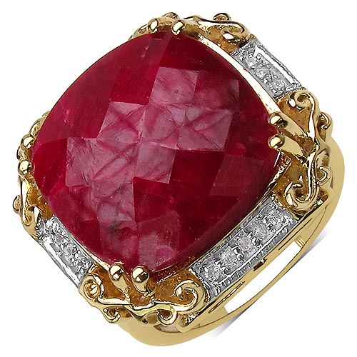 Ruby:Cushion/16.00mm 1/17.35 ctw + Topaz White:Round/1.00mm 16/0.08 ctw #33753v3