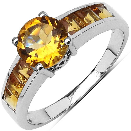 Citrine:Square/3.00mm + Citrine:Round/7.00mm 1/1.08 ctw #33701v3