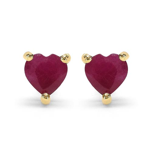 Ruby:Heart/4.00mm 2/0.70 ctw #29275v3