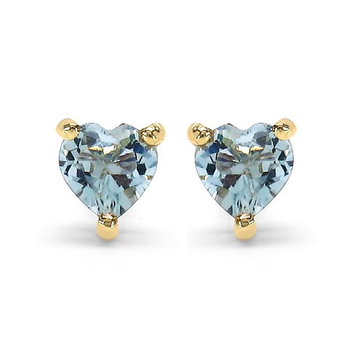 Topaz Blue:Heart/4.00mm 2/0.70 ctw #29270v3
