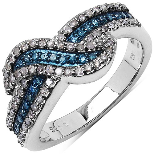 Diamond Blue:Round/0.95-1.00mm 63/0.36 ctw #33732v3