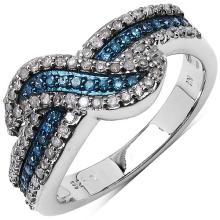 Diamond Blue:Round/0.95-1.00mm 63/0.36 ctw #33732v3
