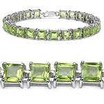 Peridot:Square/ 5.00mm 25/15.00 Ctw #29018v3