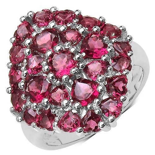 Rhodolite:Round/4.00mm 1 /0.30 ctw + Rhodolite:Heart/4.00mm 4 /1.12 ctw + Rhodolite:Heart/3.00mm 20 /3.00 ctw + Topaz White:Round/1.00mm 8 /0.04 ctw #33721v3