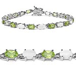 Opal:Oval/6x4mm 11/3.41 ctw + Peridot:Oval/6x4mm 11/4.95 ctw #29000v3