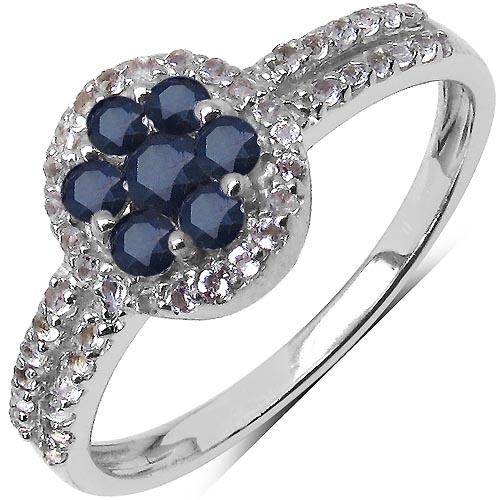 Sapphire:Round/2.00mm 7/0.49 Ctw + Topaz White:Round/1.00mm 41/0.23 Ctw #33706v3