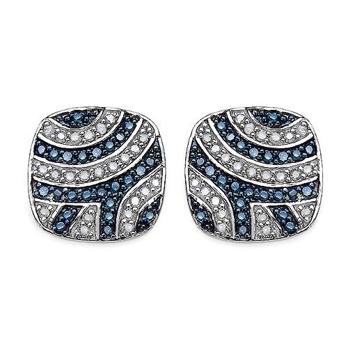 Diamond Blue:Round/0.95-1.00mm 46 /0.26 ctw + Diamond White:Round/0.95-1.00mm 48 /0.27 ctw #29107v3