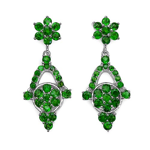 Chrome Diopside:Round/3.00 mm 40/5.20 ctw + Chrome Diopside:Round/1.90 mm 16/0.80 ctw + Chrome Diopside:Round/1.75 mm 2/0.08 ctw #33532v3