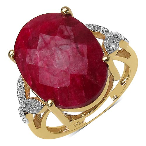 Ruby:Oval/18x13mm 1 /12.15 ctw + Topaz White:Round/1.30mm 6 /0.09 ctw #33750v3