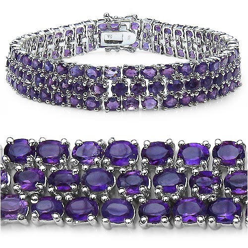 Amethyst:Oval/4x3mm 131/26.20 ctw #33295v3