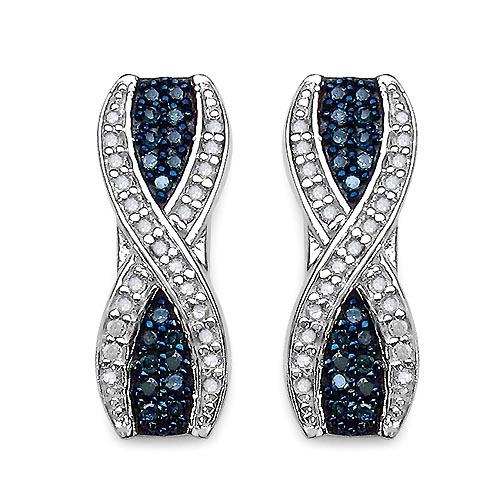 Diamond Blue:Round/0.95-1.00mm 36 /0.21 ctw + Diamond White:Round/0.95-1.00mm 46 /0.26 ctw #29112v3
