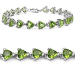 Peridot:Trillion/6.00mm 21/14.70 ctw #29021v3
