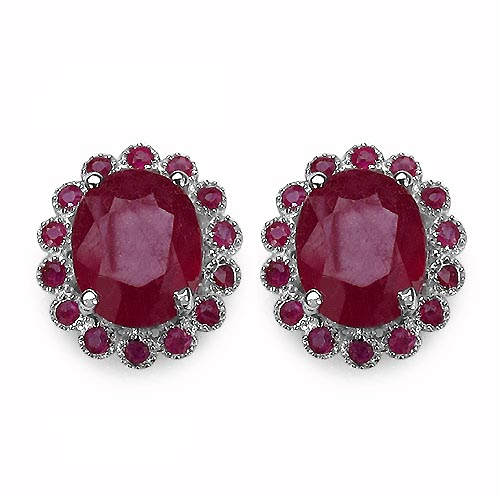Ruby:Round/1.60mm 28/0.84 ctw + Ruby Glass Filled:Oval/10x8mm 2/6.94 ctw #33514v3