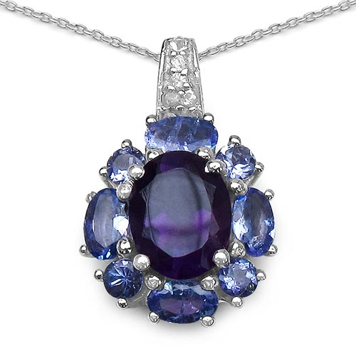 Amethyst:Oval/9x7mm 1/1.80 ctw + Tanzanite:Oval/5x3mm + Tanzanite:Round/3.00mm 4/0.40 ctw + Topaz White:Round/1.30mm 5/0.07 ctw #29388v3