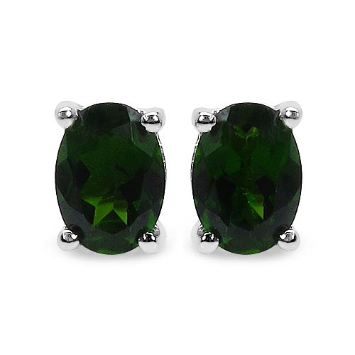 Chrome Diopside:Oval/6x4mm 2/0.94 ctw #29249v3