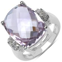 8.60 ct. t.w. Pink Amethyst and White Topaz Ring in Sterling Silver #76791v3
