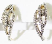 CERTIFIED 0.52 CT H/SI DIAMOND EARRING 14K GOLD #89030v3