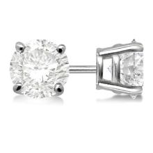 Certified 1 CTW Round Diamond Stud Earrings D/SI1 #83905v3