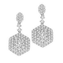 CERTIFIED 1.18 CT H/SI DIAMOND EARRING IN 14K GOLD #89079v3