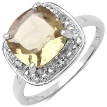 2.70 ct. t.w. Champagne Quartz and White Topaz Ring in Sterling Silver #77430v3