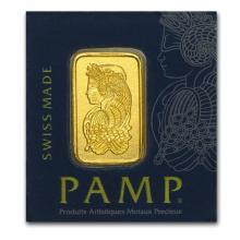 1 gram Gold Bar - PAMP Suisse - Multigram+25 (In Assay) #75139v3