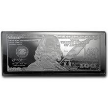 4 oz Silver Bar - 2014 $100 Bill (w/Box & COA) #74707v3