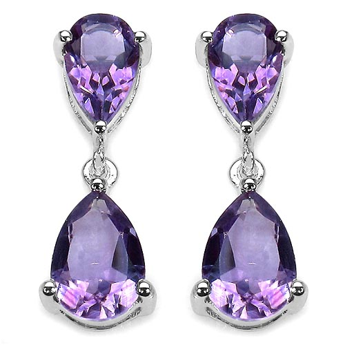 Amethyst:Pear/10x7mm 2/2.70 ctw + Amethyst:Pear/9x6mm 2/2.20 ctw #33403v3