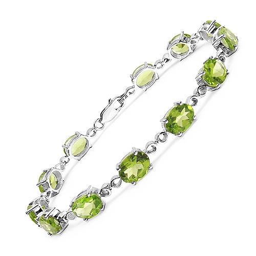 Peridot:Oval/8x6mm 12/14.40 ctw #33237v3