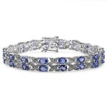 Tanzanite:Oval/5x4mm 36/11.88 ctw + Topaz White:Round/1.20mm 36/0.36 ctw #28446v3