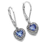 Tanzanite:Heart Shape/5.00mm 2/0.90 ctw + Topaz White:Round/1.10mm 40/0.36 ctw #28488v3