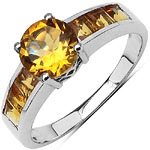 Citrine:Square/3.00mm + Citrine:Round/7.00mm 1/1.08 ctw #28315v3
