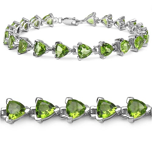 Peridot:Trillion/6.00mm 21/14.70 ctw #33247v3