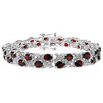 Garnet:Oval/5x4mm 34/17.00 ctw + Topaz White:Round/1.20mm 34/0.34 ctw #28451v3