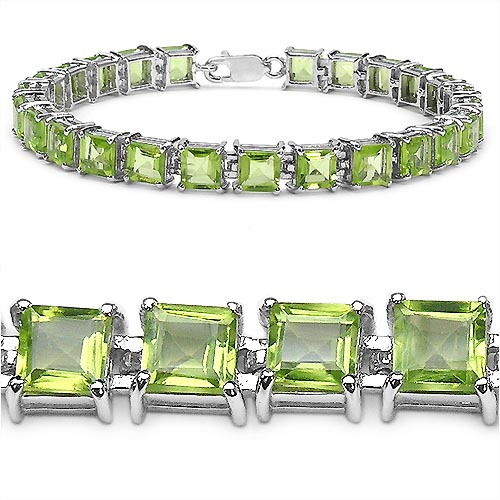 Peridot:Square/ 5.00mm 25/15.00 Ctw #33244v3