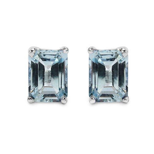 Topaz Blue:Octagon/8x6mm 2/3.60 ctw #33493v3