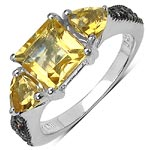 Citrine:Square/ 7.00mm + Citrine:Trillion/ 5.00mm 2/0.90 ctw #28363v3
