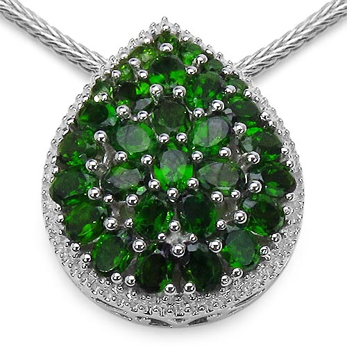 Chrome Diopside:Oval/4x3mm 23/4.37 ctw + Chrome Diopside:Round/2.00mm 7/0.35 ctw #33626v3
