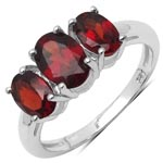 Garnet:Oval/7x5mm 1/0.91 ctw + Garnet:Oval/6x4mm 2/1.12 ctw #28370v3