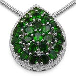 Chrome Diopside:Oval/4x3mm 23/4.37 ctw + Chrome Diopside:Round/2.00mm 7/0.35 ctw #28244v3