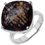 Topaz Smoky:Cushion/14.00mm 1/11.10cts #28367v3