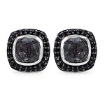 Black Rutile:Cushion/6.00mm 2/1.40 ctw + Black Spinel:Round/1.10mm 48/0.48 ctw #28480v3
