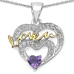 Amethyst:Heart Shape/4.00mm 1/0.25 ctw + Topaz White:Round/1.10mm 10/0.09 ctw + Topaz White:Round/1.00mm 1/0.01 ctw + Topaz White:Round/0.90mm 18/0.09 ctw #28182v3